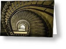 Golden Stairway Greeting Card