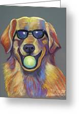 Golden With Ball Greeting Card