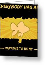 Goldfish Addiction Funny Farmer Animal Lover Greeting Card