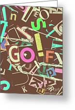 Golfing Print Press Greeting Card
