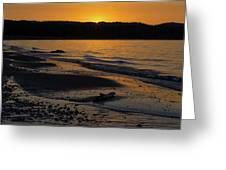 Good Harbor Bay Sunset Greeting Card