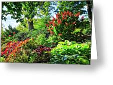 Gorgeous Gardens At Cornell University - Ithaca, New York Greeting Card