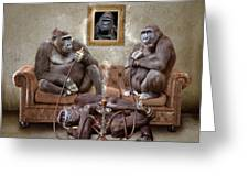 Gorilla Family Greeting Card