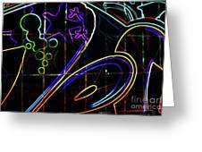 Graffiti 10 Greeting Card
