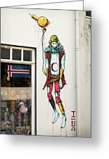Graffiti By Deih In Reykjavik Greeting Card