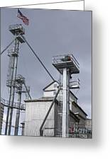 Grain And Feed Silos Bethel Vermont Greeting Card