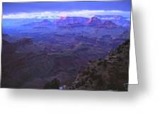 Grand Canyon Twilight Greeting Card by Chance Kafka