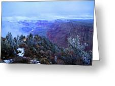 Grand Canyon Winter Scene Greeting Card by Chance Kafka