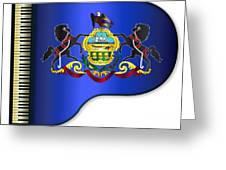 Grand Pennsylvania Flag Greeting Card