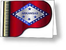 Grand Piano Arkansas Flag Greeting Card