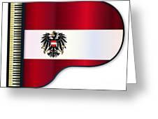 Grand Piano Austrian Flag Greeting Card