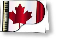 Grand Piano Canadian Flag Greeting Card