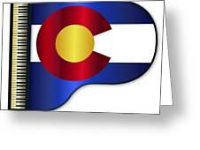 Grand Piano Colorado Flag Greeting Card