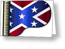 Grand Piano Confederate Flag Greeting Card