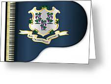 Grand Piano Connnecticut Flag Greeting Card