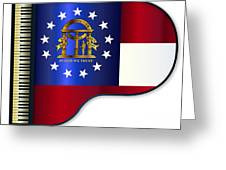Grand Piano Georgia Flag Greeting Card