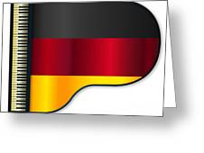 Grand Piano Germany Flag Greeting Card