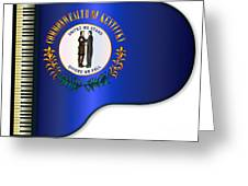 Grand Piano Kentucky Flag Greeting Card
