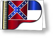 Grand Piano Mississippi Flag Greeting Card