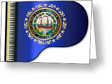 Grand Piano New Hampshire Flag Greeting Card