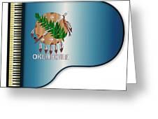 Grand Piano Oklahoma Flag Greeting Card