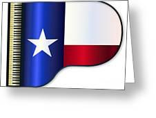 Grand Piano Texas Flag Greeting Card
