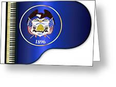 Grand Piano Utah Flag Greeting Card