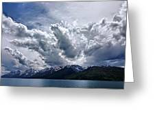 Grand Teton Mountains And Clouds Greeting Card