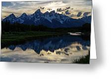 Grand Teton Sunset Greeting Card by Michael Chatt