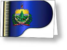 Grand Vermont Flag Greeting Card