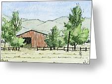 Grantsville Farm Scene Greeting Card by David King