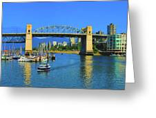 Granville Island Vancouver, British Columbia, Canada Greeting Card by Ola Allen