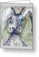 Gray Bunny Love Greeting Card