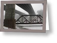 Gray Day Bridging Greeting Card