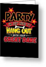 Great Dane Dog Party Greeting Card