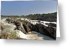 Great Falls On The Potomac Panorama  Greeting Card