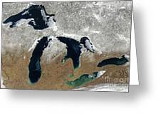 Great Lakes In Winter Greeting Card