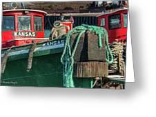 Great Lakes Towing Tug Kansas Greeting Card