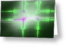 Green Aluminum Sparkling Surface. Metallic Geometric Abstract Fashion Background. Greeting Card