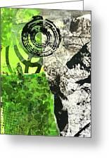 Green Balance No. 3 Greeting Card