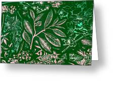 Green Composition Greeting Card