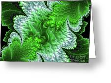 Green Frosty Canyon Greeting Card