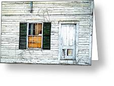 Green Shutters Greeting Card by Kendall McKernon