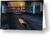 Greenway Sundown Greeting Card