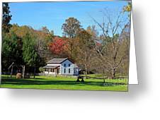 Gregg Cable House In Cades Cove Historic Area Of The Smoky Mountains Greeting Card