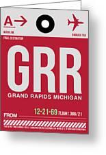Grr Grand Rapids Luggage Tag II Greeting Card