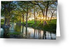 Guadalupe River Sunset Greeting Card