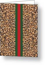 Gucci Leopard Print-1 Greeting Card