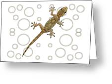 H Is For House Gecko Greeting Card