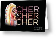 Half Breed Cher Greeting Card